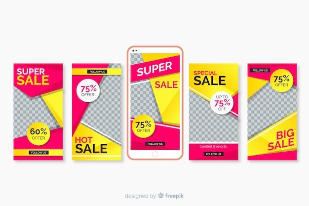 Sale instagram stories templates set