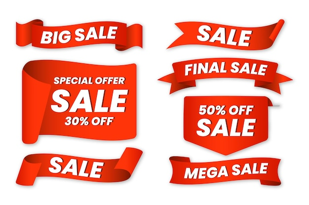 Sale label pack with discount