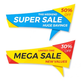 Sale label price tag banner badge template sticker .