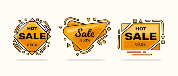 Sale label template set