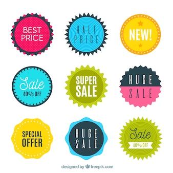 Продажа этикеток в плоском стиле