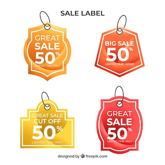 Sale labels collection in gradient colors