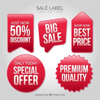 Sale labels collection with many colors