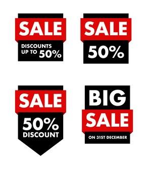 Sale labels discount tags