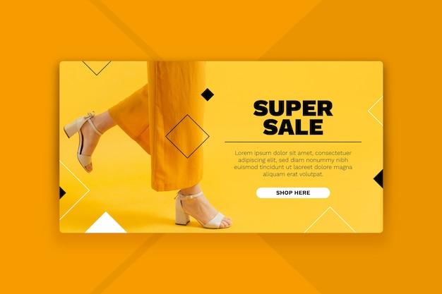 Sale landing page concept