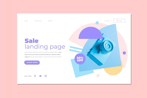 Sale landing page template