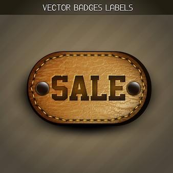 Sale leather label