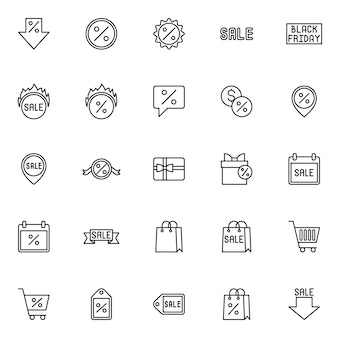 Sale line style icon. marketing, shopping and sale