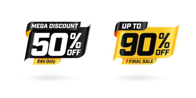 Sale marketing banner with price cut out and sell-off.