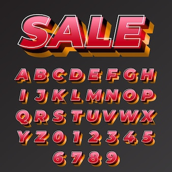 Sale modern and bold font effect