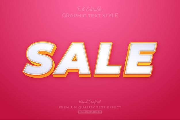 Sale modern editable text effect