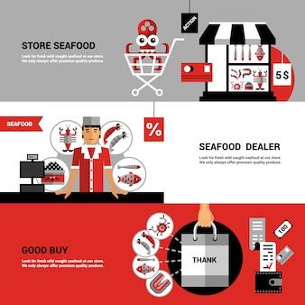 해산물 가로 배너 판매