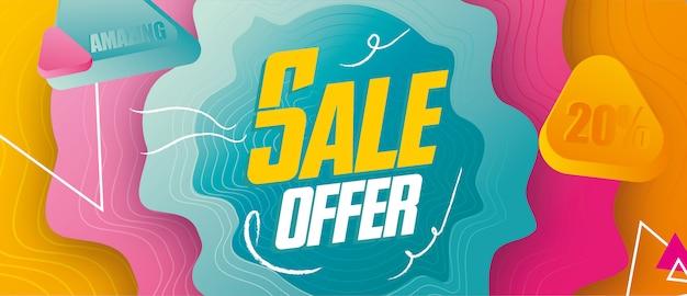 Sale offer banner design