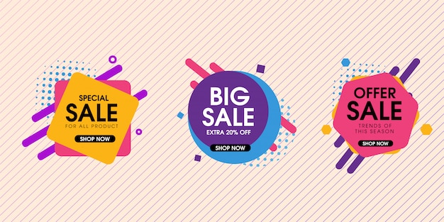 Sale offer element designs