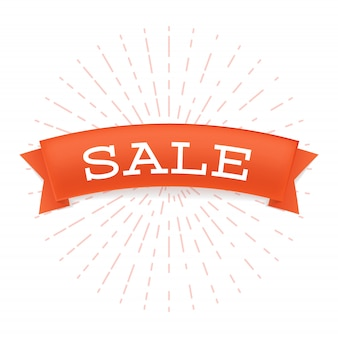 Sale offer flat  banner