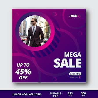 Sale offer social media post template