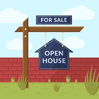 In vendita concetto di casa aperta