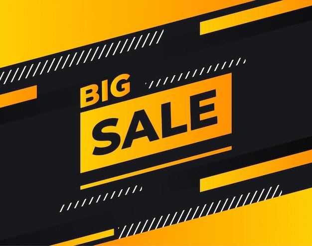 Продажа или скидка бизнес баннер в оранжевый и черный цвета