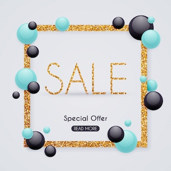 Sale paper banner. sale and discounts.