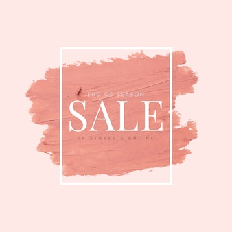 Sale pink brush stroke background