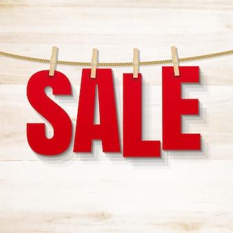 Продажа плакат и деревянные текстуры иллюстрации
