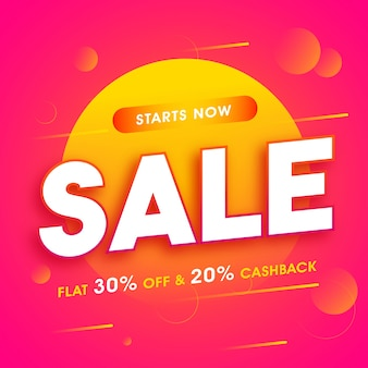 Sale poster, banner with flat discount offer.