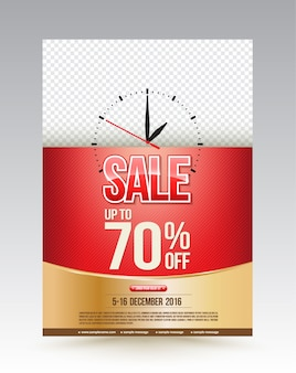 Sale poster design template up to 70 percent