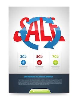 Sale poster design template
