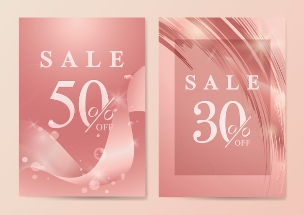 Sale poster with wave abstract vector