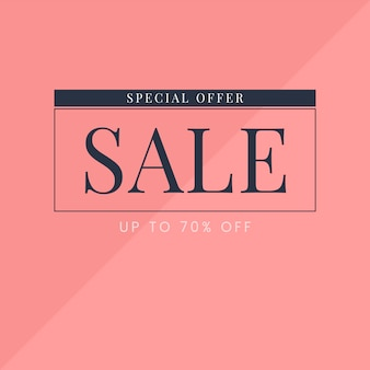 Sale promotion ad poster design template