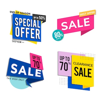 Sale promotion advertisements set