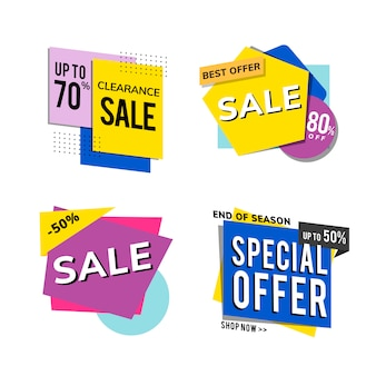 Sale promotion advertisements vector set