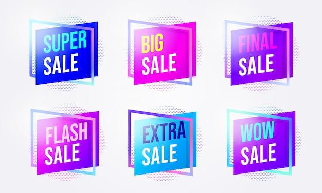 Набор наклеек со значками для продвижения продаж