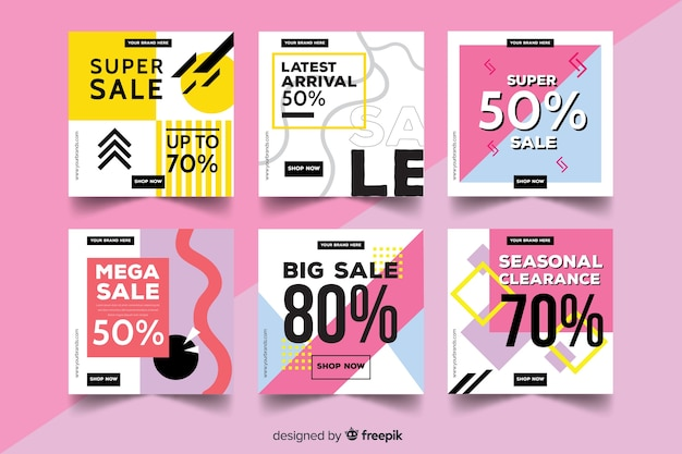 Sale promotion banner collection for social media