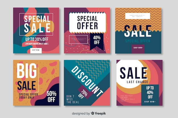 Sale promotion banner collection