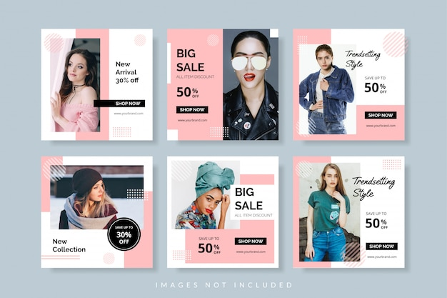Sale promotion banner template for web and social media post
