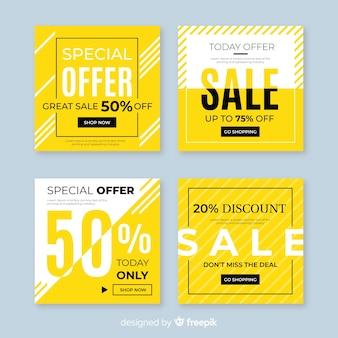 Продажа рекламных баннеров для коллекции социальных сетей