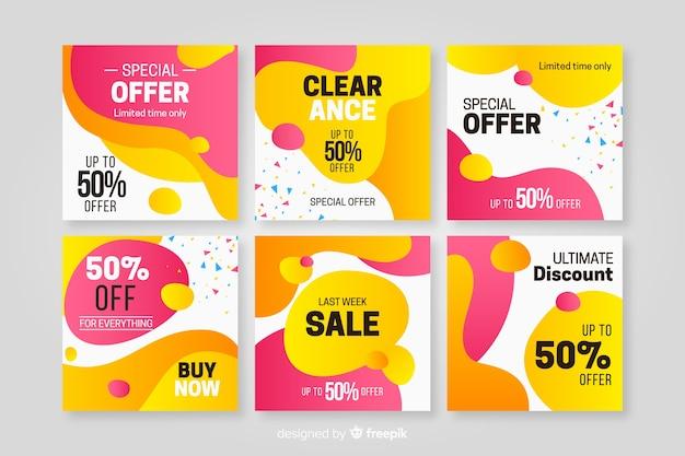 소셜 미디어를위한 판매 홍보 배너