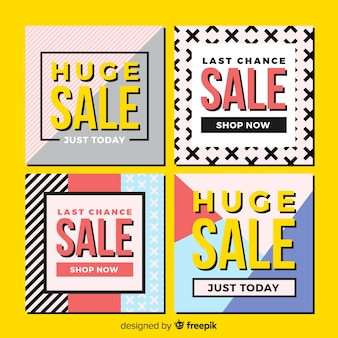 Sale promotion banners for social media collection