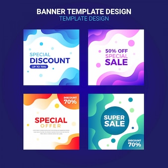 Sale promotion banners for social media template