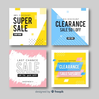 Sale promotion banners for social media