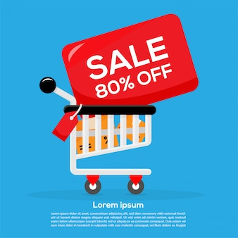 Sale Promotion Offer Banner Cart Template Design