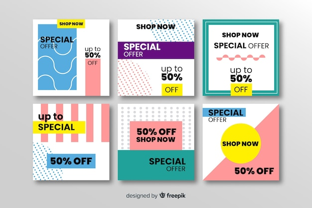 Sale promotion social media banner pack