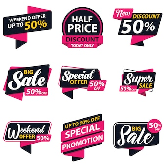 Sale promotion sticker template
