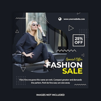 Sale promotion web banner post