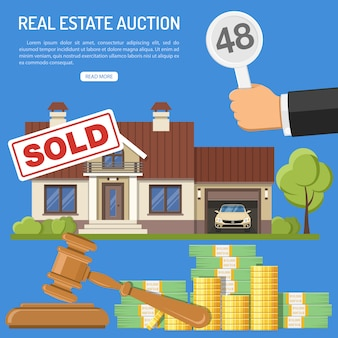 Sale real estate at auction