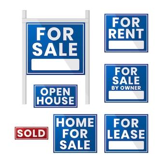판매 부동산 표지판 컬렉션