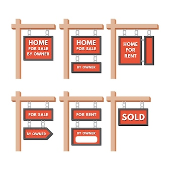 Sale real estate signs