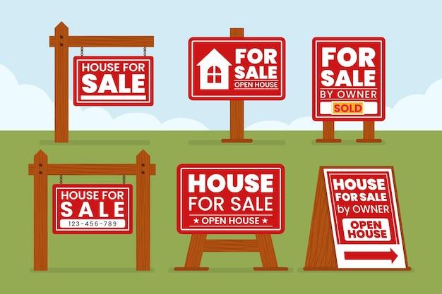 Знаки продажи недвижимости