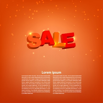 Sale on a red background with text.